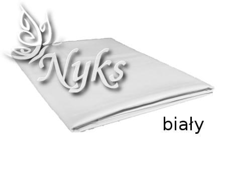 Prześcieradło Bawełniane Bez Gumki 160x200 Białe Nyks